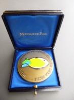 Médaille D'Honneur Du Conseil Supérieur De La Pêche Attelier Monnaie De Paris Bronze Massif Et émaux. Expédition Lettre - Professionnels / De Société