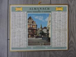 Calendrier  PTT 1955 - TURCKHEIM - Alsace - Calendriers