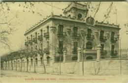 SPAIN - ESTACION ENOLOGICA DE REUS - EXTERIOR DEL EDIFICIO CENTRAI Y NAVE DEL LABORATORIO - E. PUIG 1910s (BG4782) - Tarragona