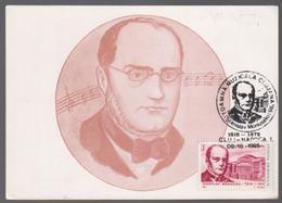 MUSIC MAXIMUM CARD ROMANIA 1995, STANISLAW MONINSZKO COMPOSER POLAND.SPECIAL P[OSTMARK - Muziek