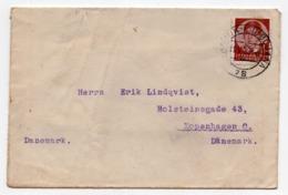 1938 YUGOSLAVIA, SLOVENIA, TPO KAMNIK-LJUBLJANA NO. 78, SENT TO COPENHAGEN, DENMARK - 1931-1941 Königreich Jugoslawien