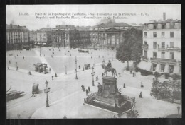 Cpa 5920316 Lille Place De La République Et Faidherbe Vue D'ensemble Sur La Préfecture - Lille