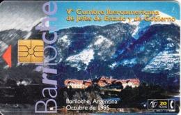 ARGENTINA(chip) - Bariloche, Telefonica Telecard(C 3(20)), Chip GEM1b, 09/95, Used - Argentinië