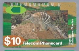 AU.- Telelecom Phonecard $10. Numbat Endangered Species. Australia. AUSTRALIË. N920533.- 0000023966061. - Telefoonkaarten