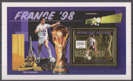 Soccer World Cup 1998 - Football - CHAD - S/S Gold MNH - 1998 – France