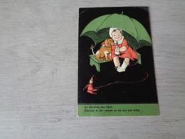 Chien ( 583 )  Hond   Carte Gaufrée  Reliëf  -  Tekkel  Basset - Chiens