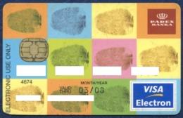LATVIA - LETTONIE - LETTLAND PRAVEX BANK VISA ELECTRON CARD VERY GOOD USED CONDITION EXP. 2008 - Cartes De Crédit (expiration Min. 10 Ans)