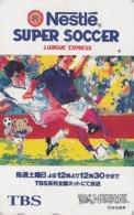 Télécarte Japon / 110-011 - Sport FOOTBALL ** NESTLE Food Advertising ** - TBS Radio TV - SOCCER Japan Phonecard - Werbung