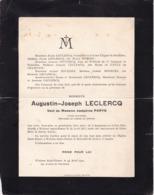 Centenaire WOLUWE-SAINT-PIERRE ARQUENNES Augustin LECLERCQ Veuf PARYS, Ancien Industriel 1811-1911 Presque Centenaire ! - Avvisi Di Necrologio