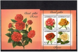 Azerbaijan 2014 . Roses. 2 S/S: 4v X 0.3m; 1m.  Michel #  BL 143-44 - Azerbaiján