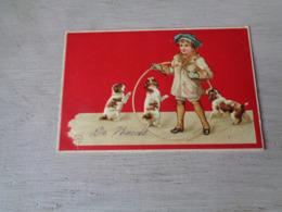 Chiens ( 586 )  Hond  Chien  Honden  -  Carte Gaufrée  Reliëf - Chiens