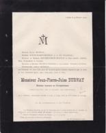 DIEKIRCH Luxembourg LIEGE Jean-Pierre BURNAY Directeur Honoraire Enregistrement 81 Ans 1902 Famille DOUXCHAMPS - Avvisi Di Necrologio