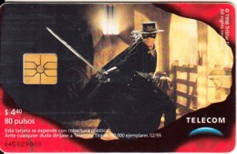 ARGENTINA - El Zorro 6, Telecom Argentina Telecard, Chip GEM1, 02/99, Used - Argentina