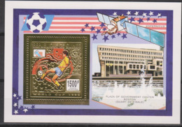 Soccer World Cup 1994 - Football - SPACE - GUINEA - S/S Gold MNH - World Cup