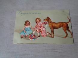 Chien ( 591 )  Hond    -  Carte Gaufrée  Reliëf - Chiens