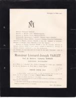 FLERON SOUMAGNE Léonard VARLET Ancien Notaire Veuf ROMSEE 1811-1902 Familles PRION PHILIPS GRAFE NEEF DAWANS - Avvisi Di Necrologio