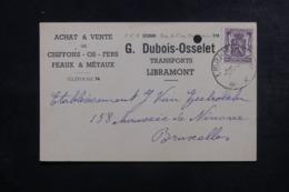 BELGIQUE - Carte Commerciale De Libramont Pour Bruxelles En 1949 - L 44397 - Lettres & Documents