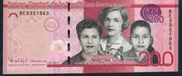 Dominican République P191c 200 Pesos 2016 #BE Signature 45  UNC. - República Dominicana