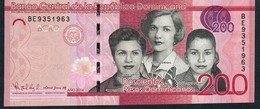 Dominican République P191c 200 Pesos 2016 #BE Signature 45  UNC. - Dominicana