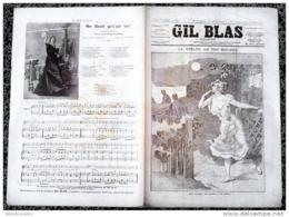 *GIL BLAS*ILLUSTRE N°3/12/07/1891/LA GRELEE P/Paul BONNETAIN + CH.:ON DIRAIT QUE C'EST TOI / /YVETTE GUILBERT - Books, Magazines, Comics