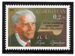 Azerbaijan 2014 . Writer Ilyas Afandiev-100. 1v: 0.2m.  Michel #  1054 - Azerbaiján