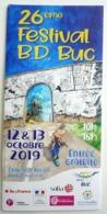 DEPLIANT 26 ème FESTIVAL BD DE BUC 2019 HARDY PIERRE TOMBAL - Objets Publicitaires