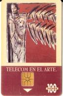 ARGENTINA - De Niño Larga Distancia, Painting/Remo Bianchedi, Telecom Argentina Telecard, Chip GEM1b, 09/95, Used - Argentina