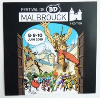 FLYERS MITTON FESTIVAL BD DE MABROUCK BLEK STRANGE 2019 - Objets Publicitaires