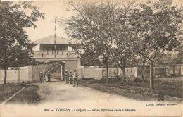 Cpa Tonkin Langson Porte Entréev Citadelle - Viêt-Nam