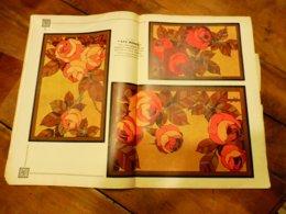 """1933 Numéro 286 (L'ARTISAN PRATIQUE) 3 Tables Gigognes En Bois Pyrogravé, Teinté Et Ciré à L'ambrine """"LES ROSES""""; Etc - Home Decoration"""