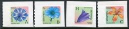 BELARUS 2002 Flowers Rate Indicatiors Definitive Self-adhesive MNH / **.  Michel 455-56, 462-63 - Belarus