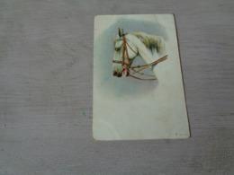 Carte ( 355 ) Fantaisie  Fantasie - Thème Animal  Dier  :   Paard   Cheval - Chevaux