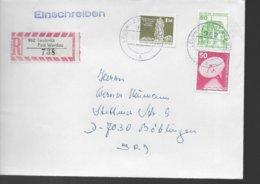 ALLEMAGNE DDR  Lettre Recommandée 1990  Leubnitz Telecommunication Chateaux - BRD