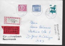 ALLEMAGNE BERLIN DDR  Lettre Recommandée 1990  Leubnitz Securité Du Travail - BRD