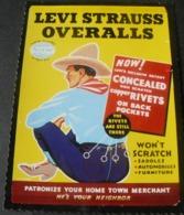 POSTALCARD OF  PUBLICITY  OF  LEVI ' S JEANS ...3 - Werbepostkarten
