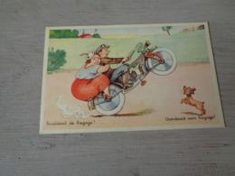 Carte ( 366 ) Fantaisie  Fantasie - Thème Moto  Motorfiets - Motos
