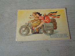 Carte ( 368 ) Fantaisie  Fantasie - Thème Moto  Motorfiets  -  Libération  Bevrijding - Motos