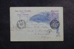 BRÉSIL - Entier Postal Pour La Belgique En 1896 - L 44414 - Postwaardestukken