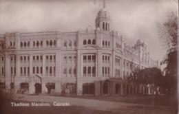 Photo Carte De Thadious Mansions Calcutta Circulée En 1923 - Inde