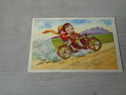 Carte ( 372 ) Fantaisie  Fantasie - Thème Moto  Motorfiets  -  Illustrateur Castelli - Motos