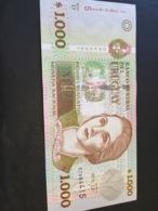 URUGUAY P91c 1000 Pesos 2011 Serie D UNC. - Uruguay