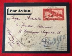 Indochine, Entier Aérien De Viet-Tri Pour Paris - 1936 - (C1056) - Luchtpost