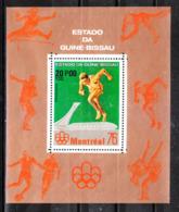Guinea Bissau   - 1976. Sprinter. Very Rare MNH Sheet - Summer 1976: Montreal