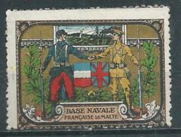 Vignette Base Navale Francaise De De Malte - Vignettes Militaires