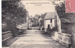 72. BEAUMONT LA CHARTRE .  CPA . LE CENTRE. ANNEE 1908 + TEXTE - Andere Gemeenten