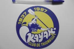 Autocollants Stickers - Sport KAYAK CLUB De THIONVILLE 57 MOSELLE - Autocollants