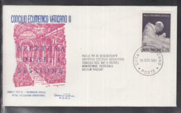 2020 ) Free Shipping To //  Beautiful Cover Of The Vatican In 1965, Worth Watching Safely  (4) - FDC