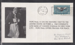 2020 ) Free Shipping To //  Beautiful Cover Of The Vatican In 1965, Worth Watching Safely  (5) - FDC