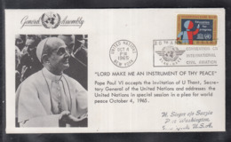 2020 ) Free Shipping To //  Beautiful Cover Of The Vatican In 1965, Worth Watching Safely  (6) - FDC
