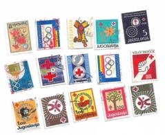 Yugoslavia Lot 15 Stamp RED CROSS - Jugoslavia
